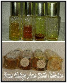 Vintage Avon Cotillion, Topaz, She's My Heart Perfume/Cologne Glass Bottle Decanters