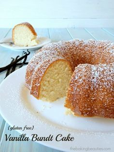 Gluten Free Vanilla Bundt Cake | The Baking Beauties Looks really good, but too many things to transform...will be a lot of work.  Have to really think about this one.