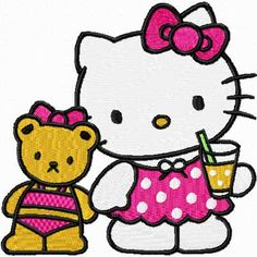 hello kitty embroidery designs | Hello Kitty We are friends machine embroidery design