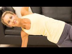 Yoga Workout: 5 Übungen gegen Hüftgold mit Miriam Krause - YouTube