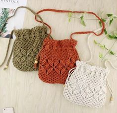 Excited to share this item from my etsy shop Casual macrame shoulder bag bagsandpurses messenger macramepurse drawstringbag handbag shoulderbag bohemianbag beachbag macrame Macrame Purse, Macrame Knots, Diy Macrame Wall Hanging, Macrame Mirror, Macrame Curtain, Crochet Bikini, Crochet Top, Macrame Projects, Maker