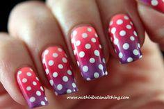 gradient nails tutorial  #nails #nail_art #gradient #tutorial #polka_dots