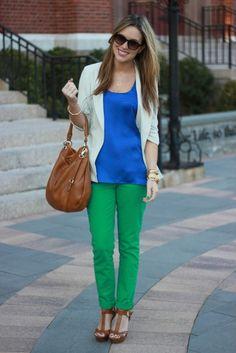Green jeans ideas!