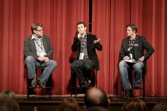 Question and Answer with Nick Moran. Michael Chaney (L), Terrell Sandefur (R). Macon Film Festival 2011