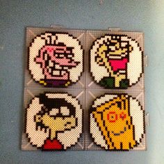Ed, Edd, Eddy and Plank  perler beads by perlermagic