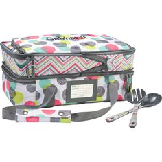 You'll be the talk of the party when you bring dishes in this double-decker thermal. Use this Hostess Exclusive in its original size to hold one casserole dish, or expand it and use the second compartment to carry another one! It even comes with two matching serving spoons! Valued at $65.00, it's a Hostess Exclusive. So book a party if you'd like to buy one at $20.00 or earn it for free!  www.mythirtyone.com/amiraconrad