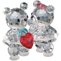 Valentine's day | crystal love bears made of the finest Bohemian crystal | crystal gifts