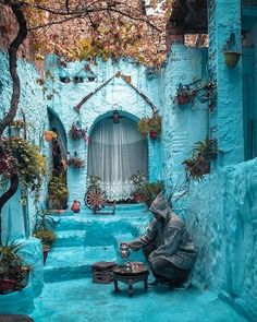 Real Heaven On Earth Chefchaouen The Blue Pearl - Morocco. This is the real heaven on earth i have visited this place only one time and i am fan of it there are rarely some places in this world which resemble to the heaven and this is one of them Beautiful Places To Visit, Wonderful Places, Cool Places To Visit, Places To Travel, Places To Go, Travel Destinations, Wanderlust Hotel, Riad, Travel Drawing