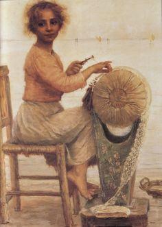 Huile sur toile en 1897 de Edmond Jean de PURY (suisse 1845 - 1911)