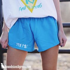 Sorority Embroidered Athletic Shorts