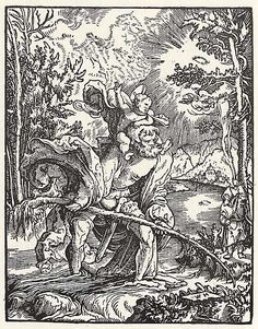 Artist: Huber, Wolfgang, Title: Der Hl. Christophorus, Date: ca. 1530