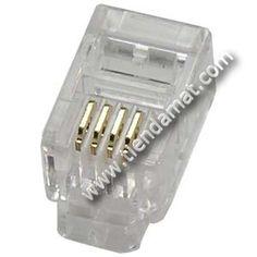 Conector Telefonía estrecho RJ9 de 4 vías - | Tiendamat