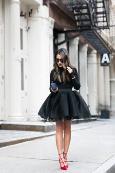 Autumn Ballerina :: Tulle skirt & Red pumps