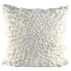 Felt pillow with a textured blossom-inspired design.   Product: Pillow  Construction Material: Felt cover and polye...