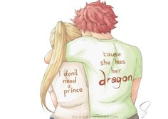 """s-a-r-a-r-a: """"Nalu Fluff Week - matchingstuck with the classic """"no prince, but a dragon""""-thingy for this one. well it's cute and it fits them,^^ ..trying to get better with colouring.. Natsu Dragneel & Lucy Heartfilia © Hiro Mashima art © me PLEASE..."""