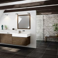 UNOFORM A classic, but contemporary bathroom with walnut elements