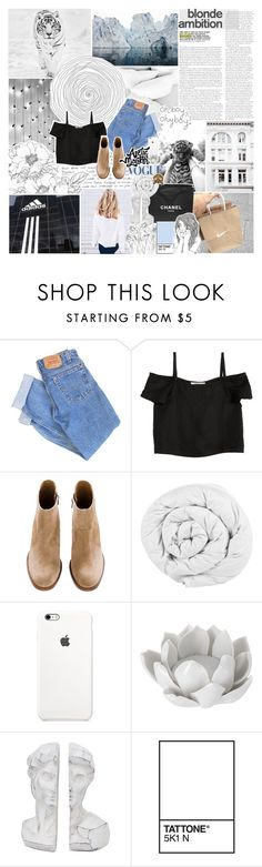 """KILLER QUEEN -- SOTF round 05"" by vanilla-chai-tea ❤ liked on Polyvore featuring Levi's, Chanel, Shaina Mote, The Fine Bedding Company, Pavilion Broadway, Changes and survivalfive"