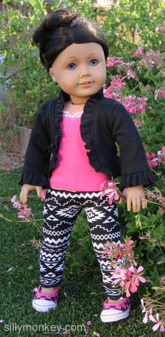 Silly Monkey - Black Shrug, Pink Tank, and Tribal Leggings (American Girl), $21.99 (http://www.silly-monkey.com/products/black-shrug-pink-tank-and-tribal-leggings-american-girl.html)