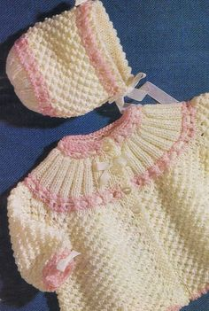Child Knitting Patterns Instantaneous Obtain Knitted Matinee Jacket and bonnet Knitting Sample - PDF - EMail obtain maintain child heat Baby Knitting PatternsKnitted Matinee Jacket and Bonnet Your child will be the envy of the street in this stylish style Baby Cardigan Knitting Pattern, Knitted Baby Cardigan, Knit Baby Sweaters, Knitted Baby Clothes, Baby Knitting Patterns, Baby Patterns, Crochet Baby, Knit Crochet, Knitted Fabric