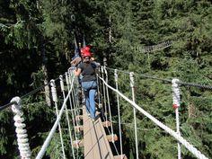 Zipline Bridge in Ketichan AK  copyrighted 2014 Dark Woods Studios, Ltd. Co. dwoodstudio.com