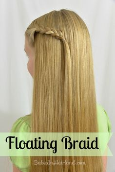 Tired of bobby pins slipping out? Try this floating braid and problem solved! www.BabesInHairland.com #braids #hair #video #tutorial #easyhairstyle