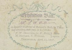 Ball Invitaites from 1800 - Google Search
