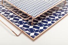 Pedestal Tray in copper and ceramic by Flavia Del Pra www.flaviadelpra.com.br