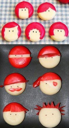 Babybel cheese pirate, etc! way cool man. I love Babybel cheese. Cute Food, Good Food, Yummy Food, Lunch Snacks, Healthy Snacks, Lunches, Lunch Box, Babybel Cheese, Spearmint Baby
