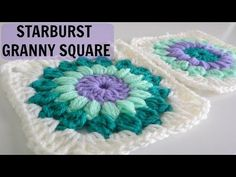 How to Crochet a Starburst Granny Square - YouTube