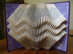 Folded book art waves II recycled book by DancingGreyStudio, $45.00