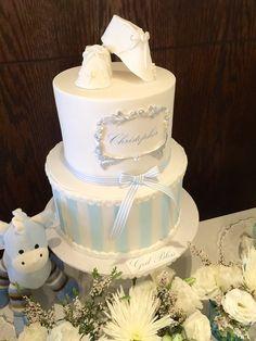 Blueberry and almond cake - HQ Recipes Baby Boy Christening Cake, Baby Boy Baptism, Baptism Cakes, Cake For Baptism Boy, Baby Shower Cakes For Boys, Baby Boy Cakes, Dedication Cake, Baptism Decorations, Birthday Cakes