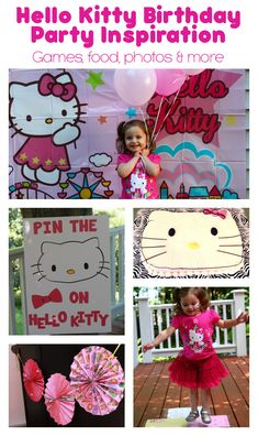 Hello Kitty Birthday Party Inspiration - games, food, photos and more. Everything you need to plan the perfect Hello Kitty party, as well as how to save on the supplies. #hellokitty #birthday #party #partyideas