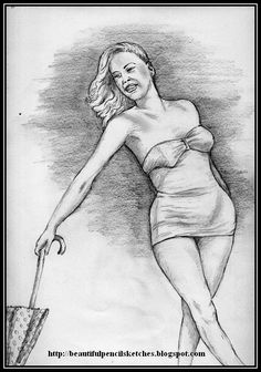 Beautiful Pencil Sketch of a Girl Standing with Umbrella 020515 Pencil Sketches Of Girls, Beautiful Pencil Sketches, Figure Poses, Girl Standing, Girl Sketch, Art, Art Background, Sketches Of Women, Kunst