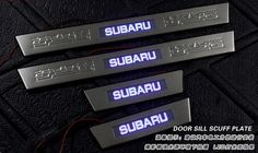 Stainless Steel LED Scuff Plate Door Sill Plate For Sabaru Outback 2010 2011 2012