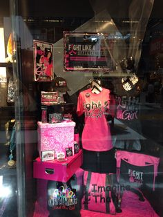Fight Like A Girl Official Gear, Dallas Wholesale Market Center display window
