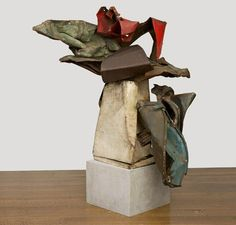 John Chamberlain Fantail, 1961, Painted and chromium-plated steel, 178 × 190.5 × 152.4 cm, Collection of Jasper Johns. © 2012 John Chamberlain/Artists Rights Society (ARS), New York. Included in the 2012 John Chamberlain Retrospective at The Guggenheim Museum, New York