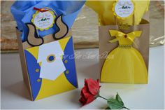 Beauty and the Beast Party Favor Bags / por BusyBeeSweetDesigns