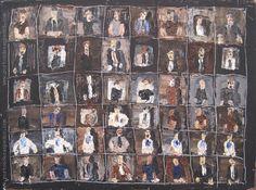 """Igancio Iturria """"Figuras"""" Óleo sobre tela  30 x 41 cm. Año 1996  Firmado y fechado al dorso   http://www.portondesanpedro.com/ver-producto.php?id=12433"""