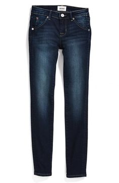 Hudson Kids 'Collin' Flap Pocket Skinny Jeans (Freezer Blue) (Big Girls) available at #Nordstrom