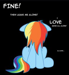 I Have This Pic Always On Wallpaper When Im Sad XD Rainbow Dash