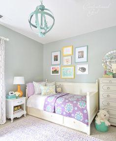 lavender and white girls room
