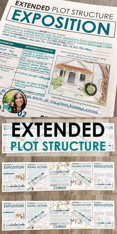 Extended plot structure activity for middle and high school English | Reading literature | Writing | Grades 5-12 | Fifth Grade | Sixth Grade | Middle School ELA | Activities for reading