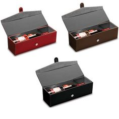 Compliment that perfect bottle of wine by putting it in the sophisticated Bardolino wine box. Made of premium PU leatherette exterior and faux suede interior, this box is a classy way to package a 750mL bottle of wine or spirit as a gift