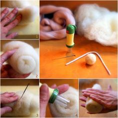 This tutorial for a needle felted doll base I happily share with you.   It took me quite a while to develop an easy way to create a s...