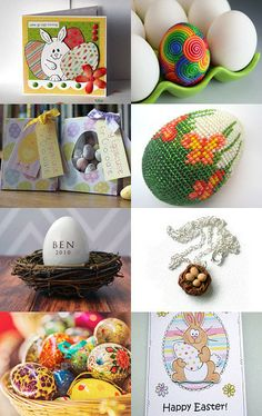 Easter Eggs by Aunty Joan on Etsy--Pinned with TreasuryPin.com