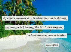 A-perfect-summer-day-is-when-the-sun-is-shining-the-breeze-is-blowing-the-birds-are-singing-and-the-lawn-mower-is-broken - Dump A Day This Is Us Quotes, Quote Of The Day, Cedar Shed, Hipster Edits, Dump A Day, Spring Pictures, Summertime Sadness, Sad Day, Gardening For Beginners