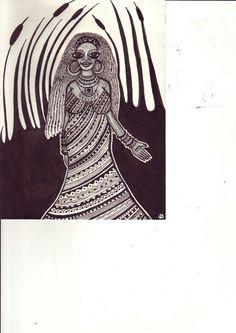 Shamann woman/book illustration by Mad.Madlene Art