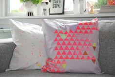 Neon pillows ~ I really want these!!