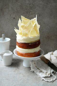 Lemon White Chocolate Cheesecake Layer Cake #recipe