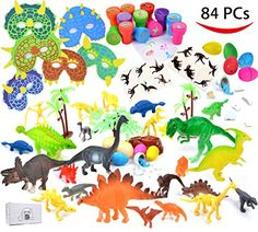 Joyin Toy 84 Pieces Dinosaur World Party Favors Playset including 6 6'' Realistic Dinosaur and MORE - http://www.partythings.com/joyin-toy-84-pieces-dinosaur-world-party-favors-playset-including-6-6-realistic-dinosaur-and-more.html